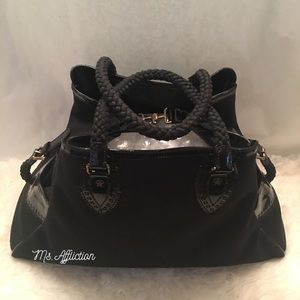 FENDI Bags - FENDI Authentic XL Du Jour Black Patent Jacquard